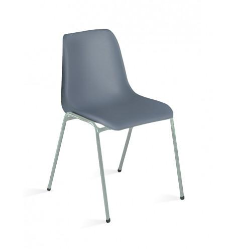 chaise-coque-plastique-grise