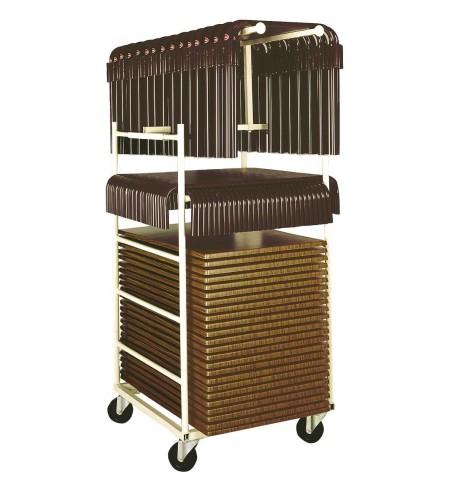 Chariots Mairietables rectangulaires mobilier collectivité