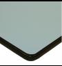 Plateau mélaminé table rectangulaire gris