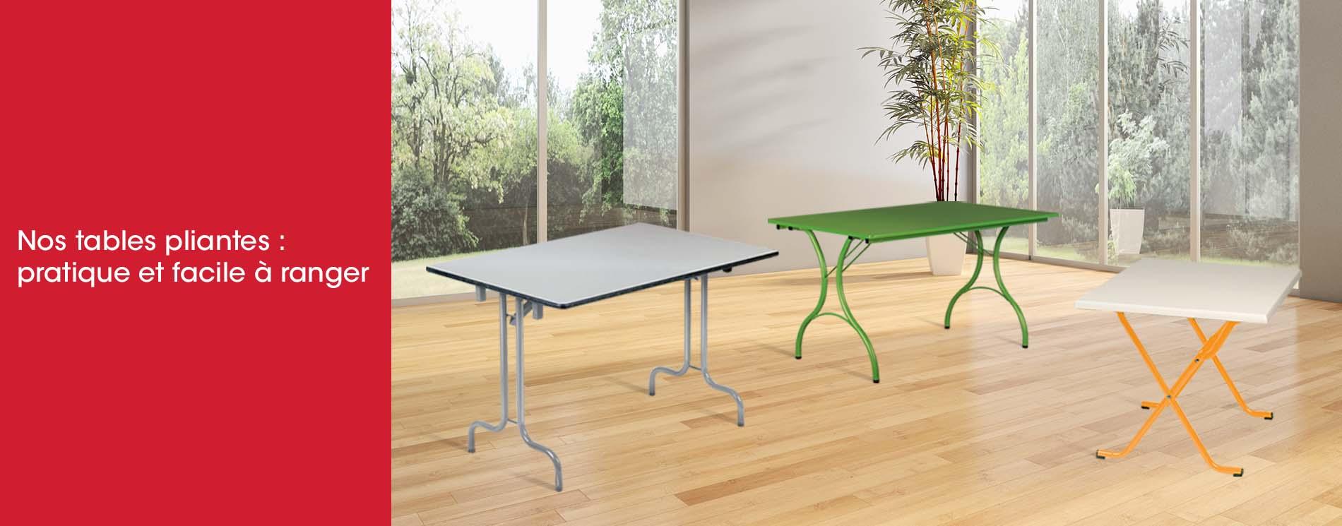 Tables pliantes personnalisables